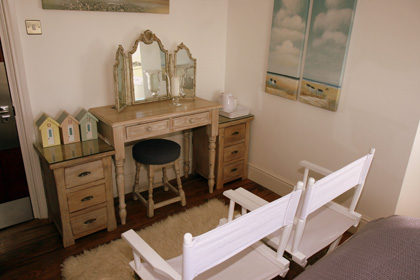 Beach Hut bed and breakfast room at Belle Tout Lighthouse