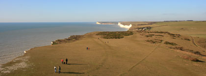 View towards the Seven Sisters and Seaford Head