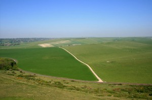 Old England view South Downs Belle Tout Lighthouse