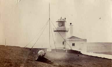 The Belle Tout Lighthouse early 1900s with lantern still in place