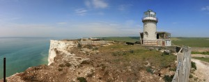 Belle Tout Lighthouse amazing views from the cliff edge