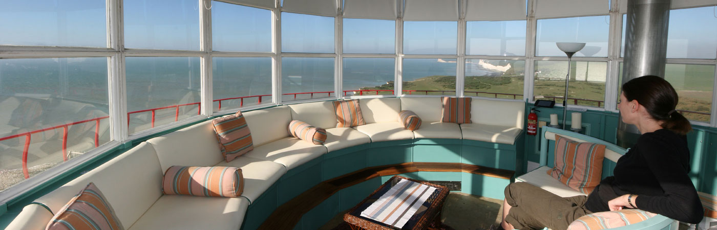 Breathtaking views from the lantern room of the Belle Tout Lighthouse at Beachy Head