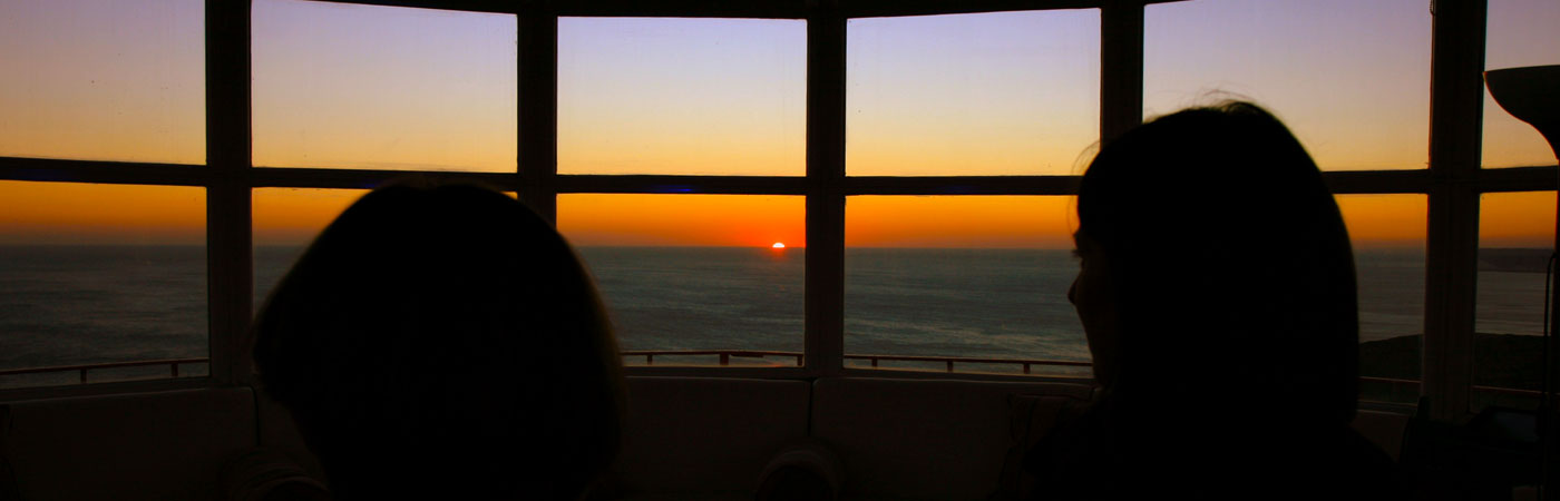 Belle Tout Lighthouse lantern room sunsets