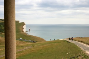 View of the Beachy Head Lighthouse from the Keepers Loft room at Belle Tout Lighthouse