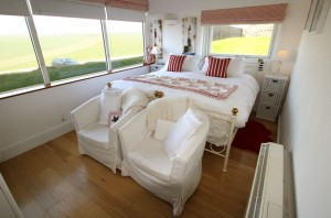 New England room with double bed at Belle Tout Lighthouse, Beachy Head, Eastbourne
