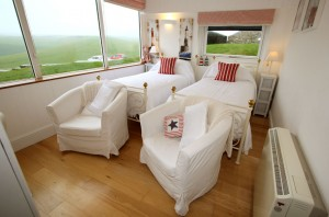 New England room with twin bed at Belle Tout Lighthouse, Beachy Head, Eastbourne