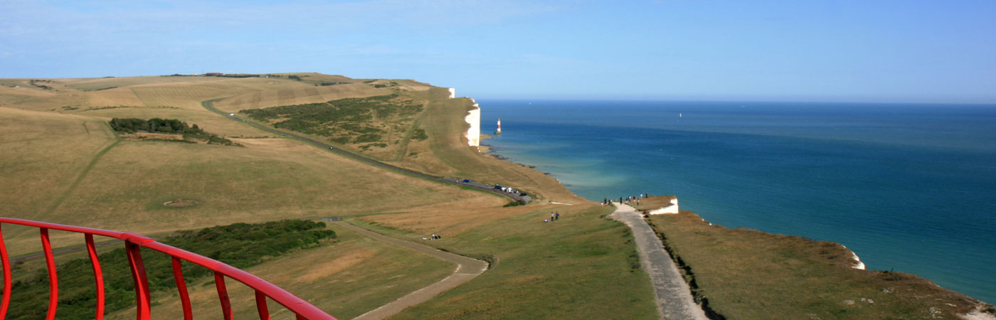 Views of the Beachy Head Lighthouse from the Belle Tout Lighthouse