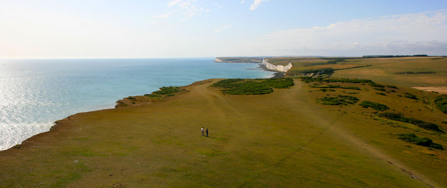 Looking West towards the Seven Sisters